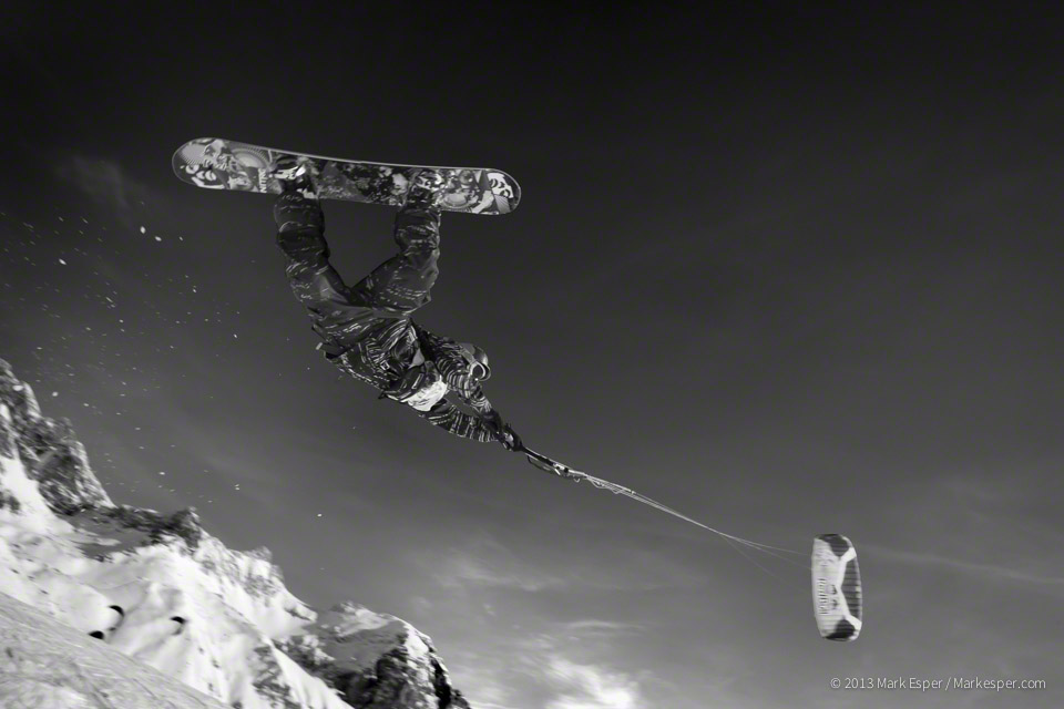 Photographs from The Snow Kite Masters - Mark Esper. Photographer.