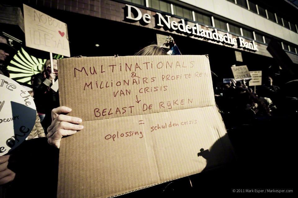 Photographs from Occupy Amsterdam - MARK ESPER. PHOTOGRAPHER