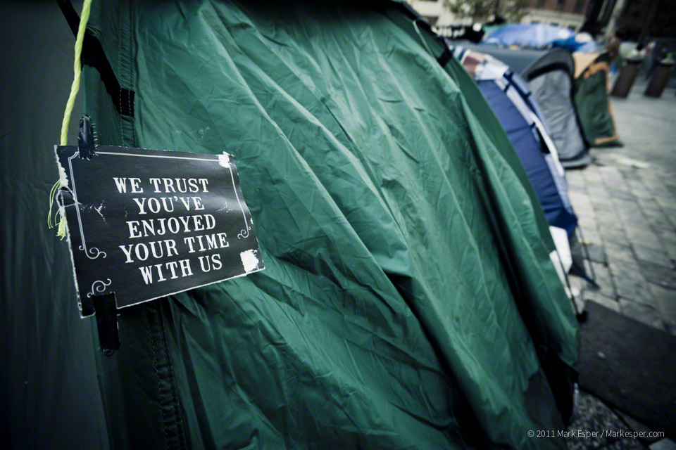 Photographs from Occupy London - MARK ESPER. PHOTOGRAPHER