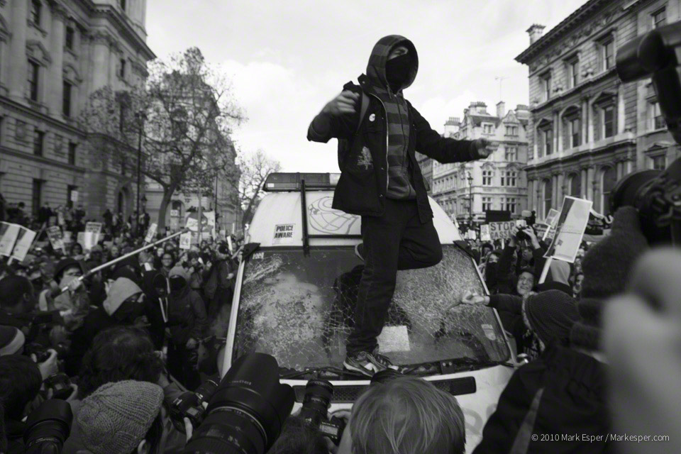 Photographs from Student Protest - MARK ESPER. PHOTOGRAPHER
