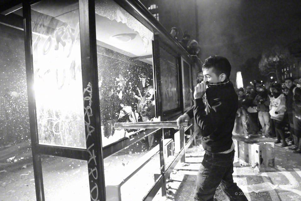 Photographs from Student Protest - MARK ESPER. PHOTOGRAPHER