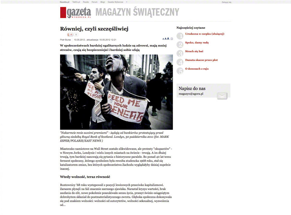 Tear Sheet from Gazeta Wyborcza - MARK ESPER. PHOTOGRAPHER
