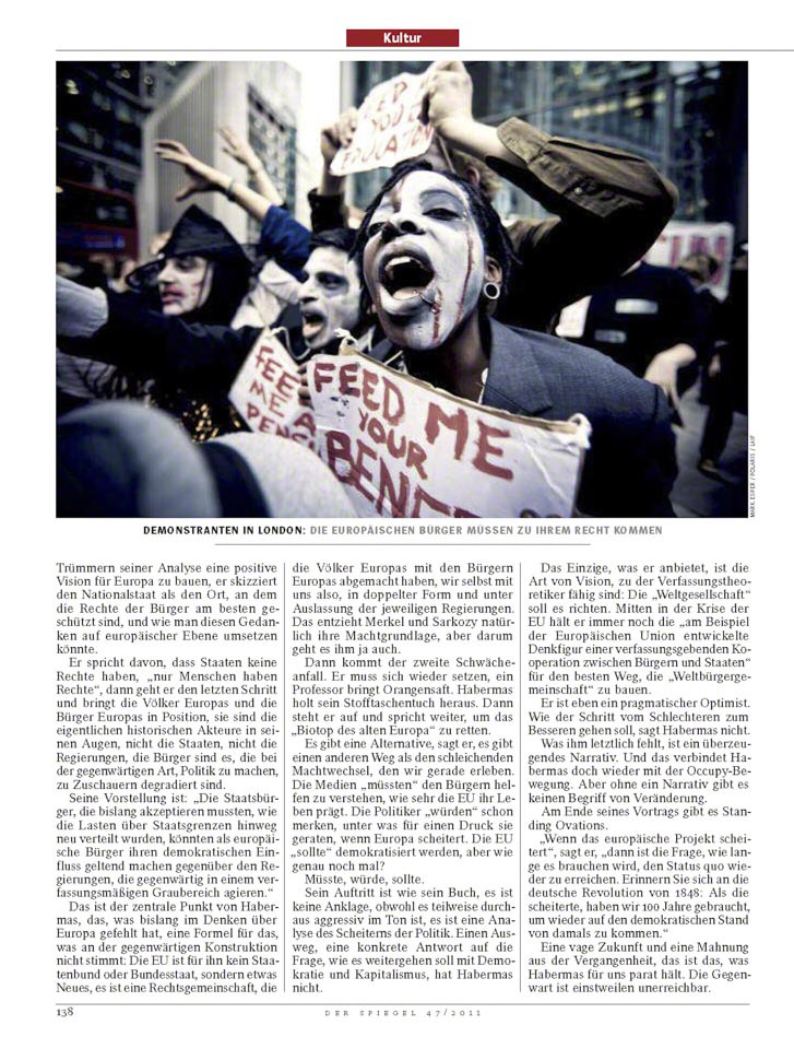 Tear Sheets from Der Spiegel - MARK ESPER. PHOTOGRAPHER